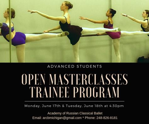 OPen MasterClasses Trainee Program